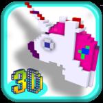 3D Unicorn Color by Number Pixel Art Coloring book APK