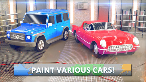 Car Painting Workshop Stress Relief Coloring Book ss 1