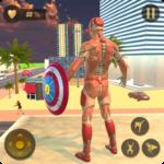 Superhero Captain Robot Flying Newyork City War Online Generator