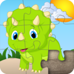 Dino Cartoon Jigsaw Puzzles for kids & toddlers 🦎 APK