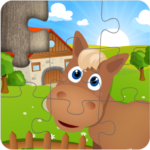 Farm Jigsaw Puzzles for kids & toddlers 🌸🍄🐮 APK