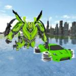 Flying Robot Car Game 2018- Flight Drive Simulator APK