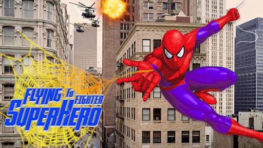 Flying Superhero Foo Fighter vs Supervillain ss 1
