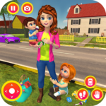 Happy Family Siblings Baby Care Nanny Mania Game APK