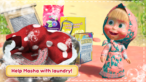 Masha and the Bear House Cleaning Games for Girls ss 1