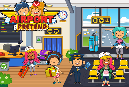 My Pretend Airport – Kids Travel Town FREE ss 1