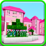 Pink dollhouse games map for MCPE APK
