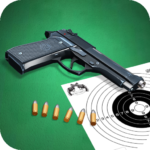 Pistol shooting at the target.  Weapon simulator. APK
