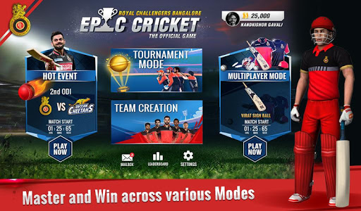 RCB Epic Cricket – The Official Game ss 1