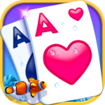 Solitaire-Beautiful SeaWorld theme, funny CardGame APK