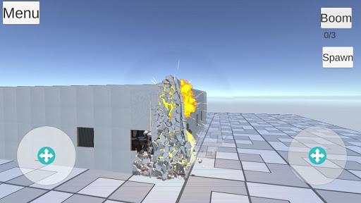 Destructive physics slowmo demolitions simulation ss 1