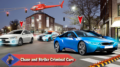 Police Car Pursuit in City Crime Racing 2019 ss 1