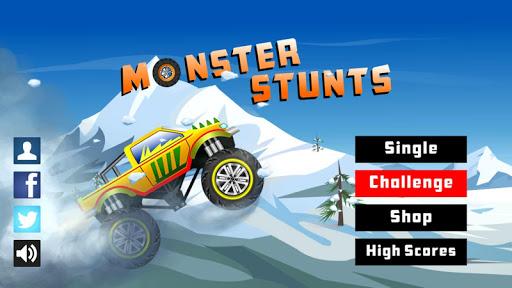 Monster Stunts — monster truck stunt racing game ss 1