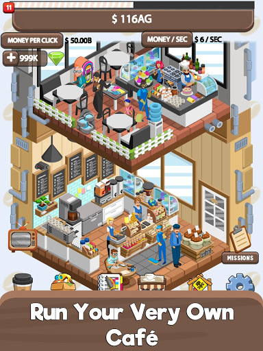 Idle Cafe Tycoon – My Own Clicker Tap Coffee Shop ss 1