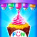 Ice Cream Cone Cupcake-Bakery Food Game APK