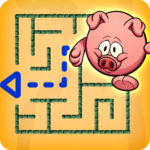 Little Pig Maze – Kids puzzle Educational game APK