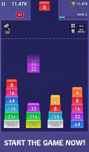 2048 Merge Bricks – Number Puzzle – 2048 Solitaire ss 1