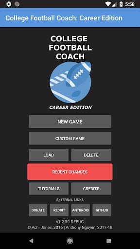 College Football Coach Career Edition v1.4 ss 1