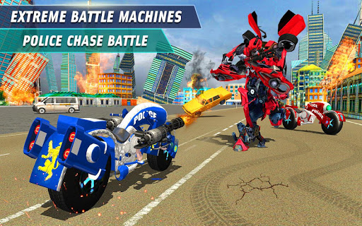 Flying Robot Police Chase- City Fighter War Robots ss 1