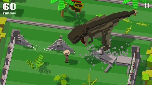 Jurassic Hopper Crossy Dinosaur Shooter Game ss 1