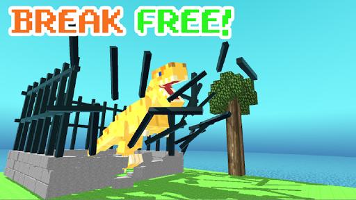 Blocky Dino Park T-Rex Rampage ss 1