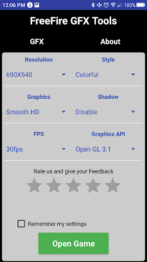 GFX Tool – Free Fire Booster ss 1