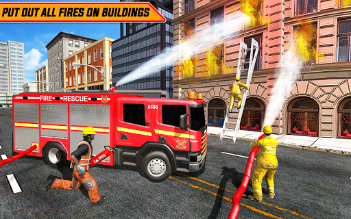 American FireFighter Truck City Emergency Rescue ss 1